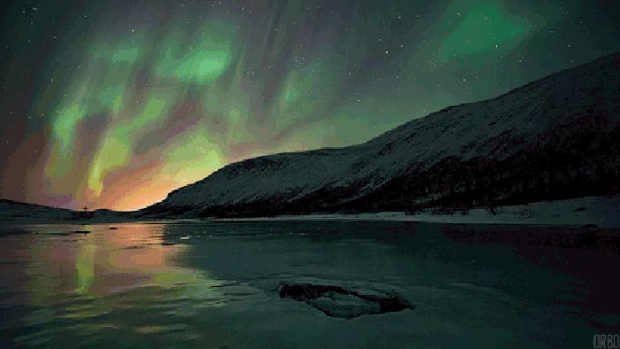 极光 冰岛 风景 炫丽