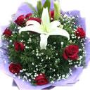 百合 玫瑰 鲜花 漂亮